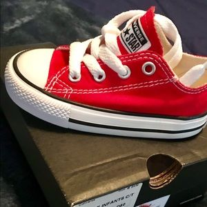 Red Toddler Converse size 6